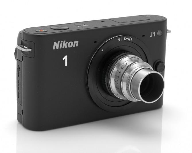 Nikon 1J1 и C-mount объектив Wolensak Cine Raptar 25/2.5