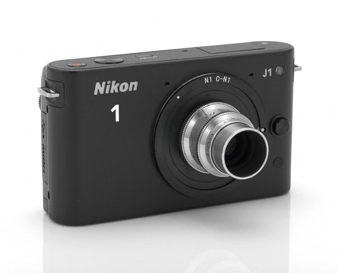 Кинооптика c-mount на Nikon 1